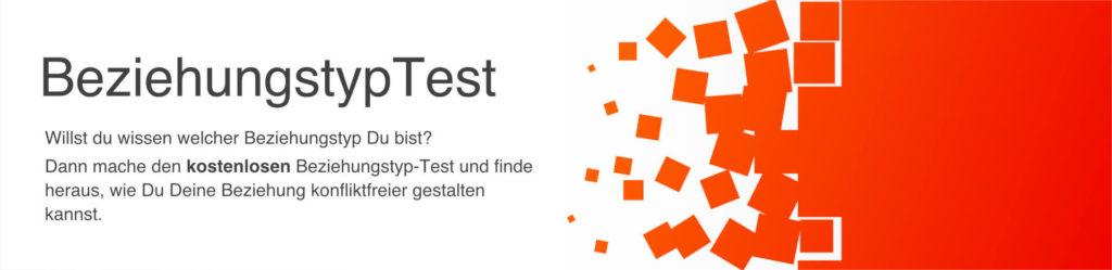 Beziehung: Banner zum kostenlosen Beziehungstyp-Test